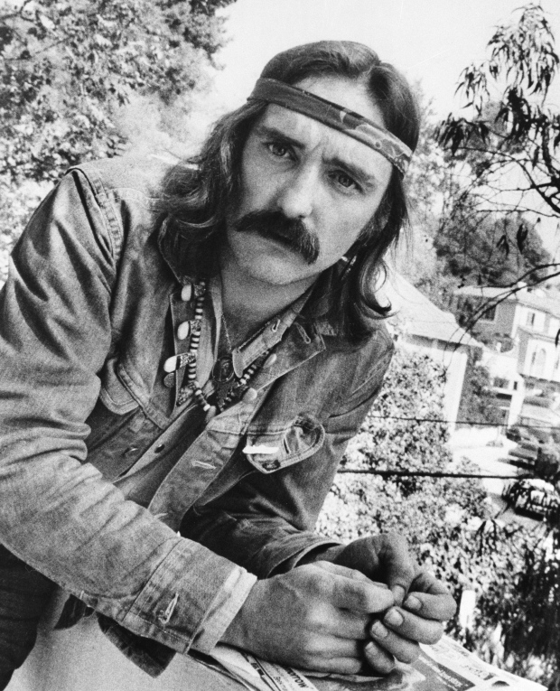 "In a Oct. 1971 file photo, director-actor Dennis Hopper poses in Hollywood, Calif. To celebrate the legacy of Dennis Hopper and his iconic counterculture film ""Easy Rider,"" motorcyclists and movie fanatics from as far away as Canada have traveled to northern New Mexico. (AP Photo, File)  Read more: http://www.ctvnews.ca/entertainment/motorcycle-rally-pays-homage-to-dennis-hopper-1.1826564#ixzz32G4rPJJA"