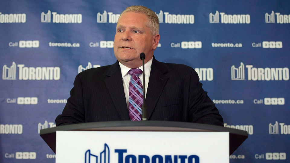 Toronto councillor Doug Ford, is pictured in Toronto on May 1, 2014. (Darren Calabrese / THE CANADIAN PRESS)