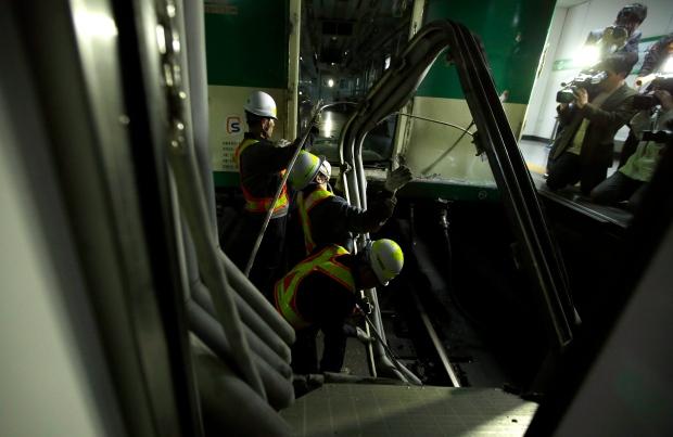 Subway train collision in Seoul, South Korea