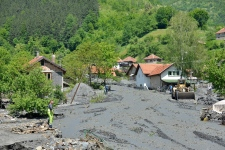 Landslide in Bosnia
