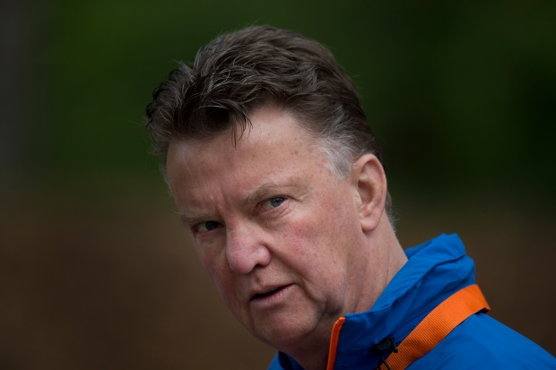 Louis van Gaal coaches the Dutch national team