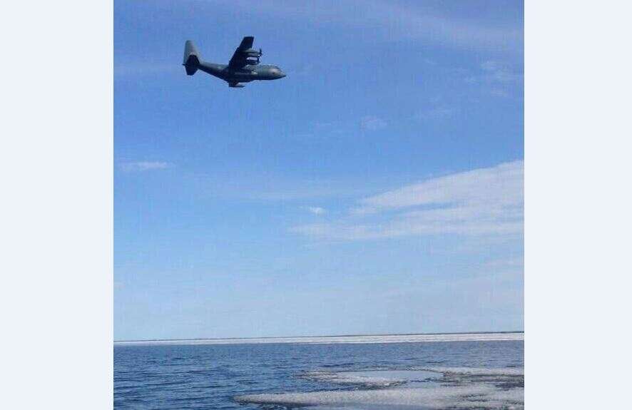 Air Force assists Coast Guard with lake rescue