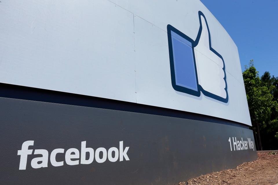 Facebook headquarters is seen in Menlo Park, Calif., on Tuesday, July 16, 2013. (AP / Ben Margot)