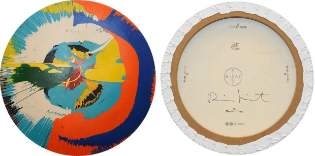 Damien Hirst spin painting