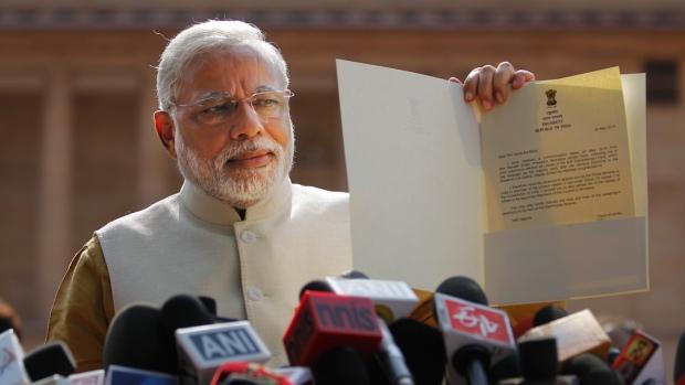 Narendra Modi at Presidential Palace, New Delhi
