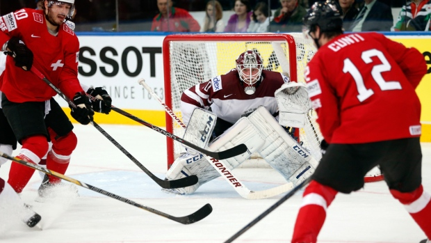 Switzerland, Latvia at Hockey World Championships
