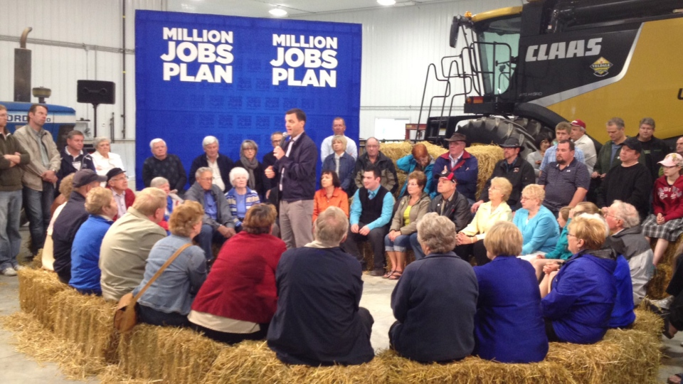 Ontario PC Leader Tim Hudak speaks at a campaign event in Woodstock, Ont. on Tuesday, May 20, 2014.