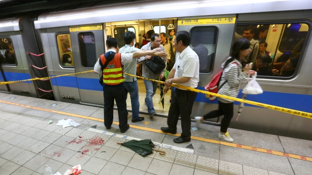Taiwan subway train stabbing