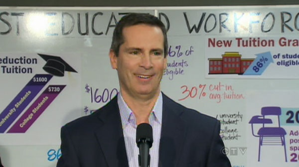 Ontario Premier Dalton McGuinty is seen in this image speaking about school�s ban on hard balls.