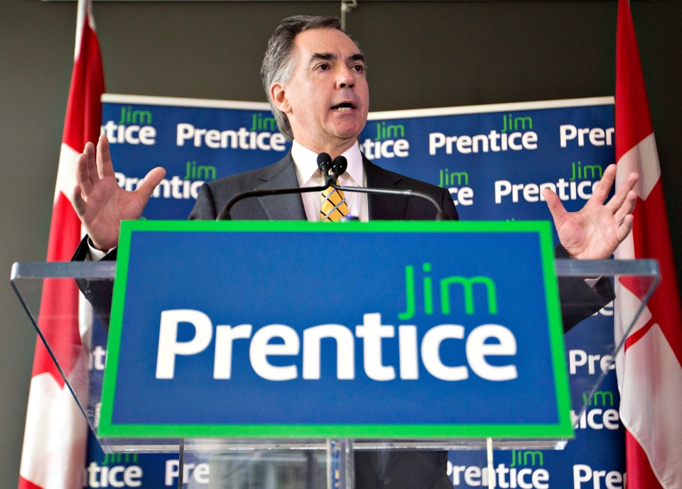 Former federal cabinet minister Jim Prentice officially launches his campaign for the Alberta Progressive Conservative leadership in Edmonton, Wednesday, May 21, 2014. (Jason Franson / THE CANADIAN PRESS)