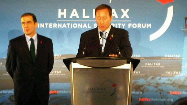 Defence Minister Peter MacKay is seen at the International Security Forum in Halifax on Sunday, Nov. 20, 2011.