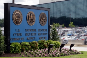 This June 6, 2013 file photo shows the sign outside the National Security Agency campus in Fort Meade, Md. (AP / Patrick Semansky)