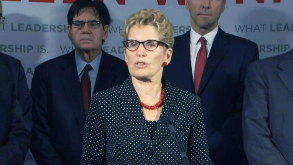 Ontario Liberal Leader Kathleen Wynne speaks at a campaign event in Toronto on Thursday, May 22, 2014.