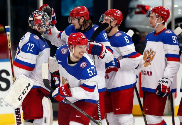 Russia beats France at world hockey championships