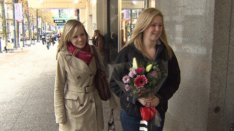 With her best friend Melissa Taylor in tow, birthday girl Maira Neil hit the streets of Vancouver in search of birthday freebies on her special day. (CTV)