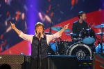 In this Jan. 27, 2014 file photo, Paul McCartney and Ringo Starr perform at The Night that Changed America: A Grammy Salute to the Beatles, in Los Angeles. (Photo by Zach Cordner/Invision/AP, File)