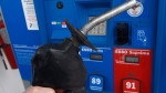 A fuel nozzle is shown at a Montreal gas station on Wednesday, April 23, 2014. (THE CANADIAN PRESS / Ryan Remiorz)