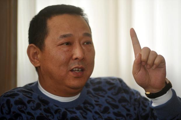 Liu Han is seen in Chengdu