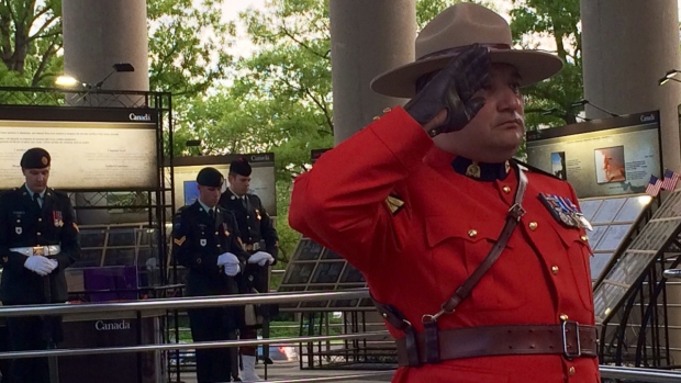 Ceremony at the Canadian embassy in Washington