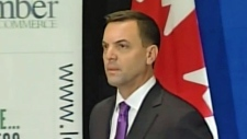 Tim Hudak speaks in London