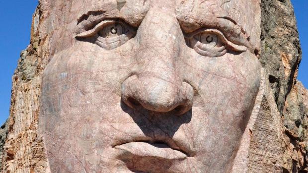 Crazy Horse mountain carving in South Dakota