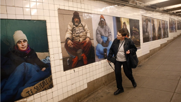 Serrano homeless photos in NYC