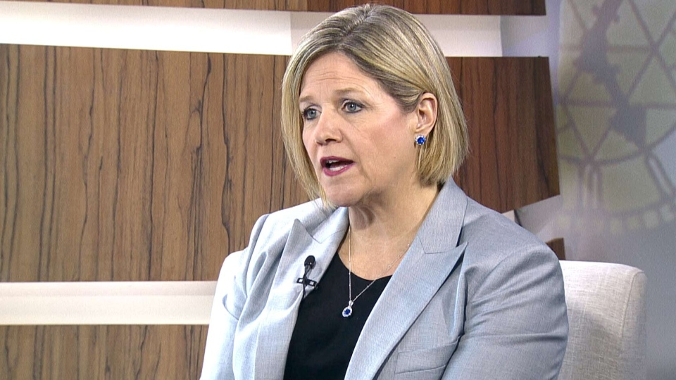 Ontario NDP Leader Andrea Horwath in an interview that aired on CTV's Question Period on Sunday, May 25, 2014.