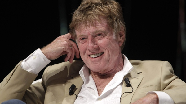Robert Redford is seen during a speech at the Cannes Lions 2009, 58th International Advertising Festival in Cannes, southern France, Tuesday, June 21, 2011. (AP / Lionel Cironneau)
