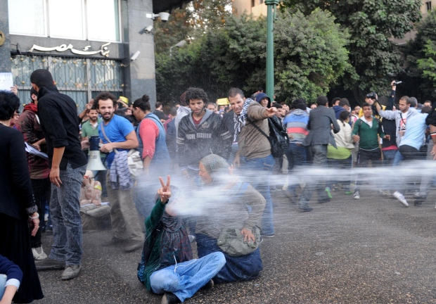 Egypt riots - students charged