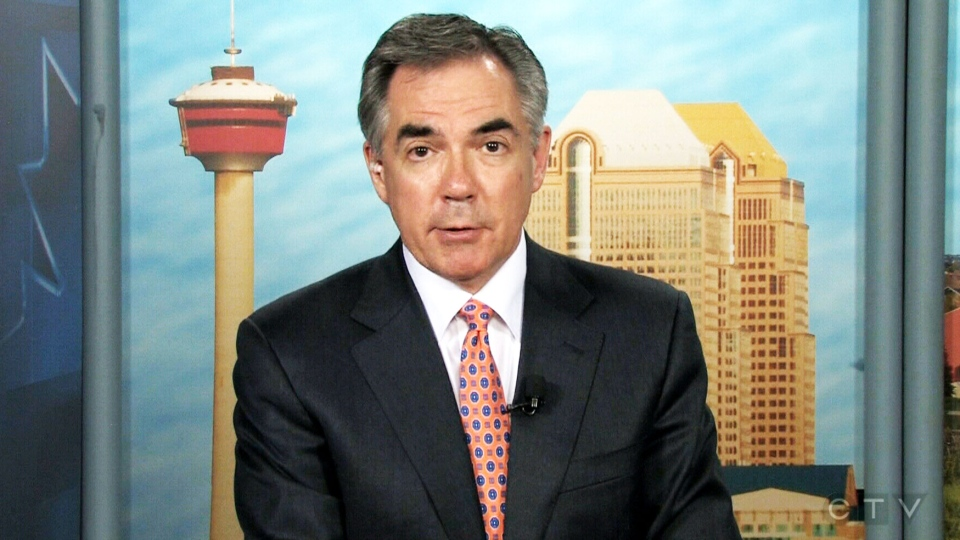 Jim Prentice appears in an interview with Robert Fife for CTV's Question Period on Sunday, May 25, 2014.