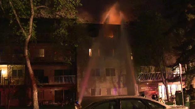 Huntington Place fire, edmonton