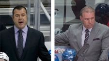 Rangers' coach Alain Vigneault (left) and Canadien