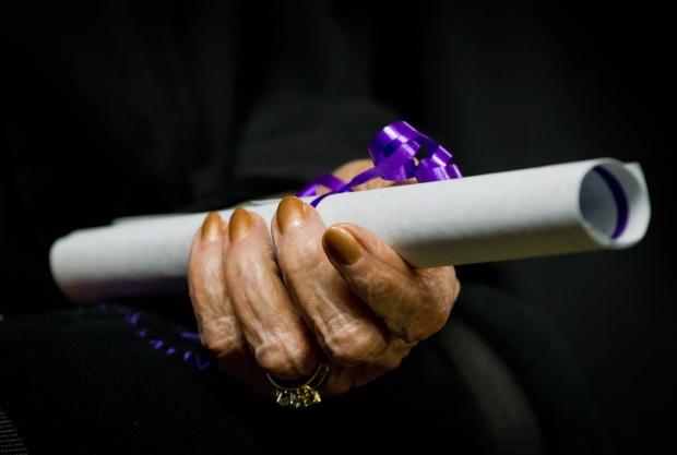 99-year-old woman graduates