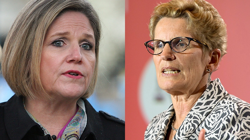 NDP Leader Andrea Horwath and Liberal Leader Kathleen Wynne face off in debate on northern Ontario issues.