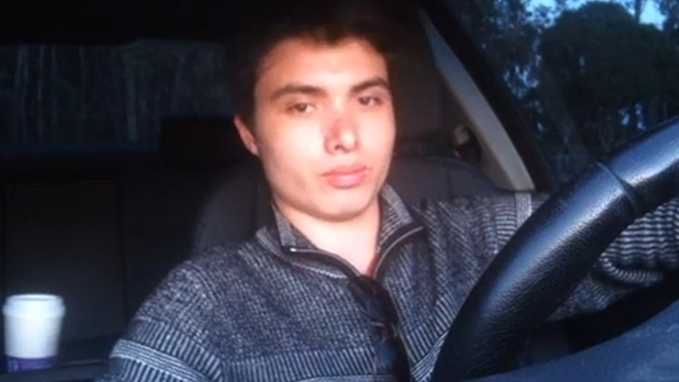 Elliot Rodger, suspect in the California mass shooting that left six people dead, looks into the camera in a YouTube video he called 'Life is so unfair because girls dont want me'