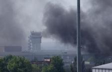 Ukraine air strike against militants