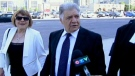 London Mayor Joe Fontana arrives at the courthouse in London, Ont. on Monday, May 26, 2014. (Sean Irvine / CTV London)
