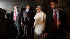 Pope Francis at Yad Vashem Holocaust memorial