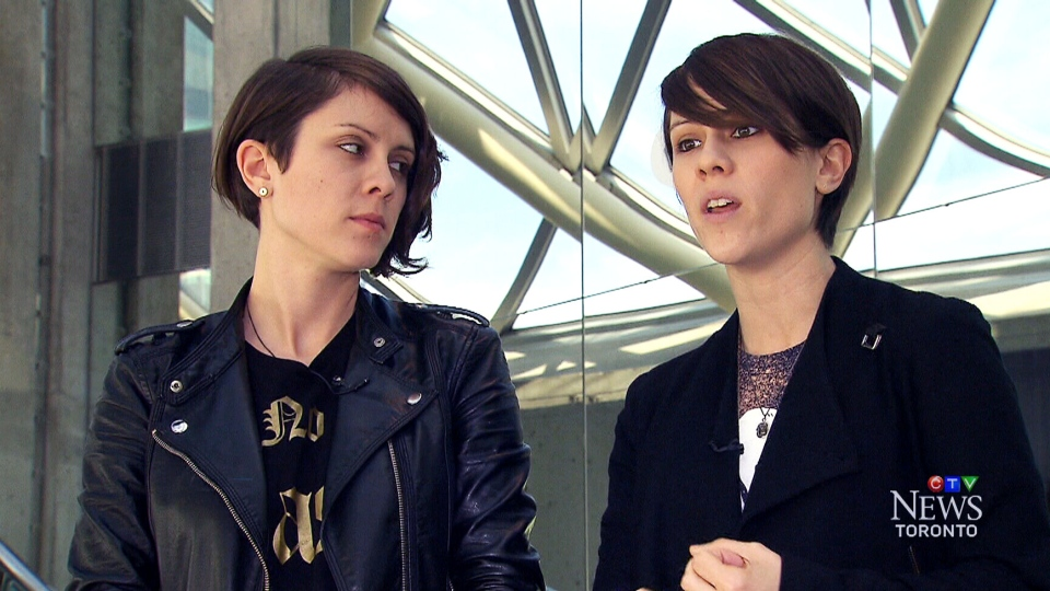 Tegan Quin and Sara Quin appear in an interview with CTV Toronto's Andria Case.