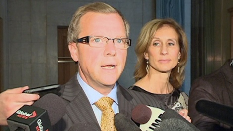 Saskatchewan Premier Brad Wall speaks to media at the provincial legislature on Wednesday.