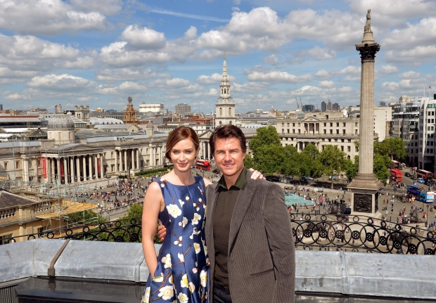 Emily Blunt and Tom Cruise at photocall in London