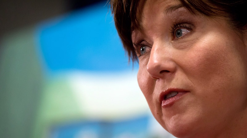 British Columbia Premier Christy Clark takes questions at a press conference in this May 2014 file photo. (THE CANADIAN PRESS/Darryl Dyck)