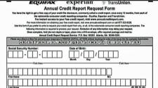credit checks, credit rating, Equifax, TranUnion,