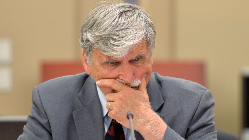 Liberal Sen. Romeo Dallaire, best known in Canada as the former commander of the UN's ill-fated peacekeeping mission in Rwanda, is seen at Senate caucus in Ottawa on Wednesday, May 28, 2014. (Adrian Wyld / THE CANADIAN PRESS)