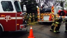Fire crews at the scene of Wednesday afternoon's house fire on Templeton Circle N.E.