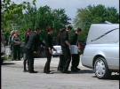 The casket of Ryker Daponte-Michaud is carried into Our Lady Help of Christians Church in Watford, Ont, on Wednesday, May 28, 2014. (Chuck Dickson / CTV London)