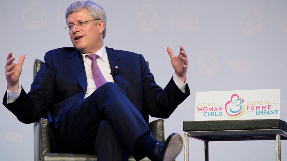 Prime Minister Stephen Harper speaks as he attends the Maternal, Newborn and Child Health Summit in Toronto on Wednesday, May 28, 2014. (Nathan Denette / THE CANADIAN PRESS)
