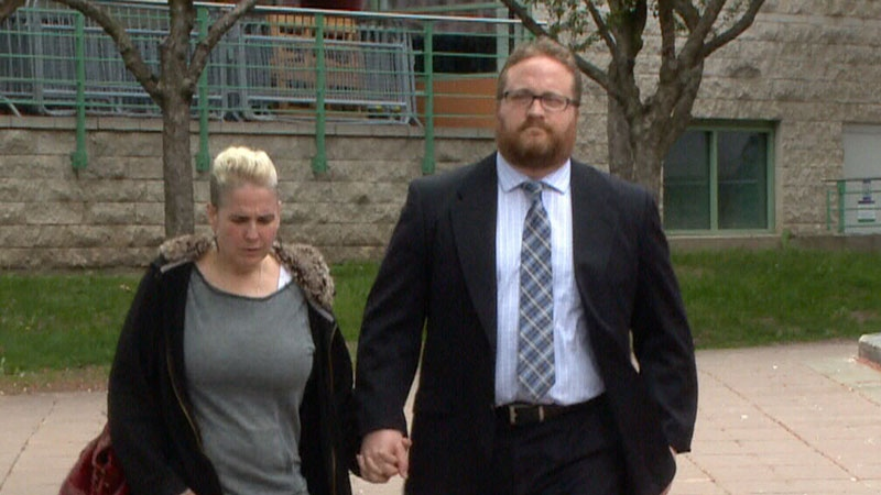 Clinton Russell and his wife head into court