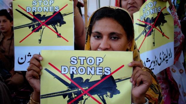 Pakistan stop drones protest