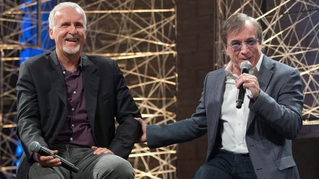 James Cameron and Daniel Lamarre Cirque du Soleil